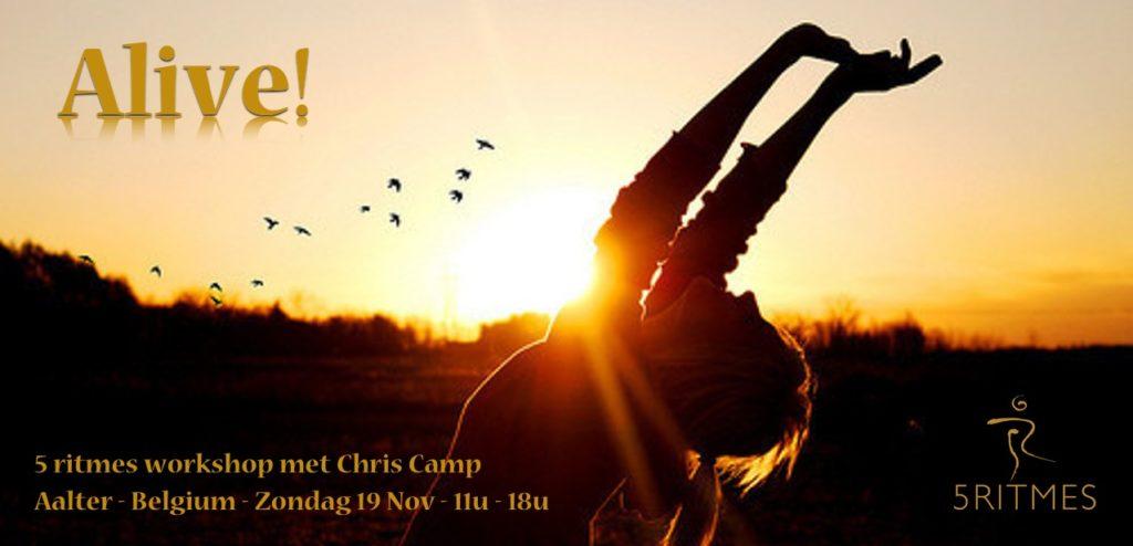 Alive! - 5 ritmes workshop met Chris Camp